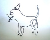 Pepe the Chihuahua wire sculpture