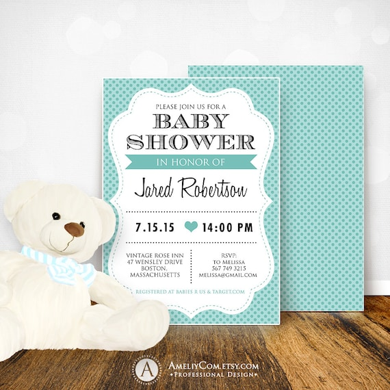 Easy-To-Use Baby Shower Invitation Card Design