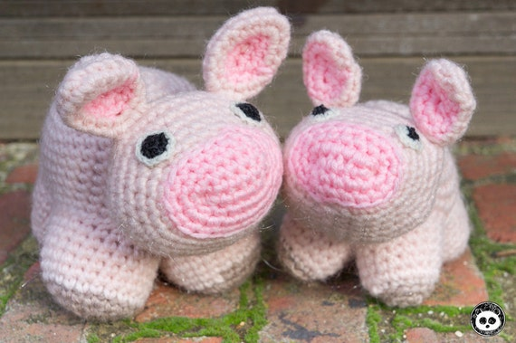 Amigurumi Piglet Patterns : Pig and Piglet Toys. Crochet Amigurumi Pattern by labrystudio