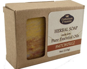 Patchouli All Natural Herbal Soap Bar 4 oz