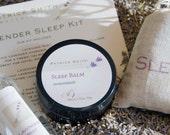 Lavender Sleep Kit - Sleep Balm, Lavender Hydrosol Mist, Lavender Sachet