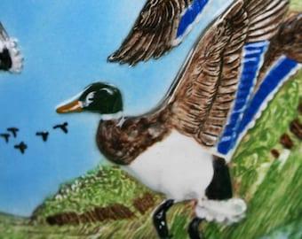 Vintage Duck Stein, Duncan Enterprises, Duck Dynasty Fan, Mallard Stein