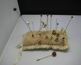 Large Pincushion with 24 stick pins