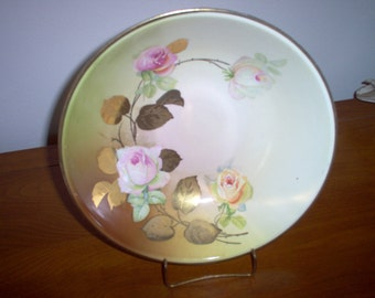 Beautiful Vintage Hand Painted Rose Bowl Made in Germany
