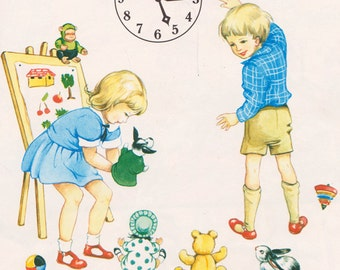My First Picture Book of Telling the Time illustrated by Rene Cloke