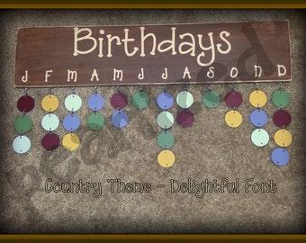 Birthday  Board - Country Theme
