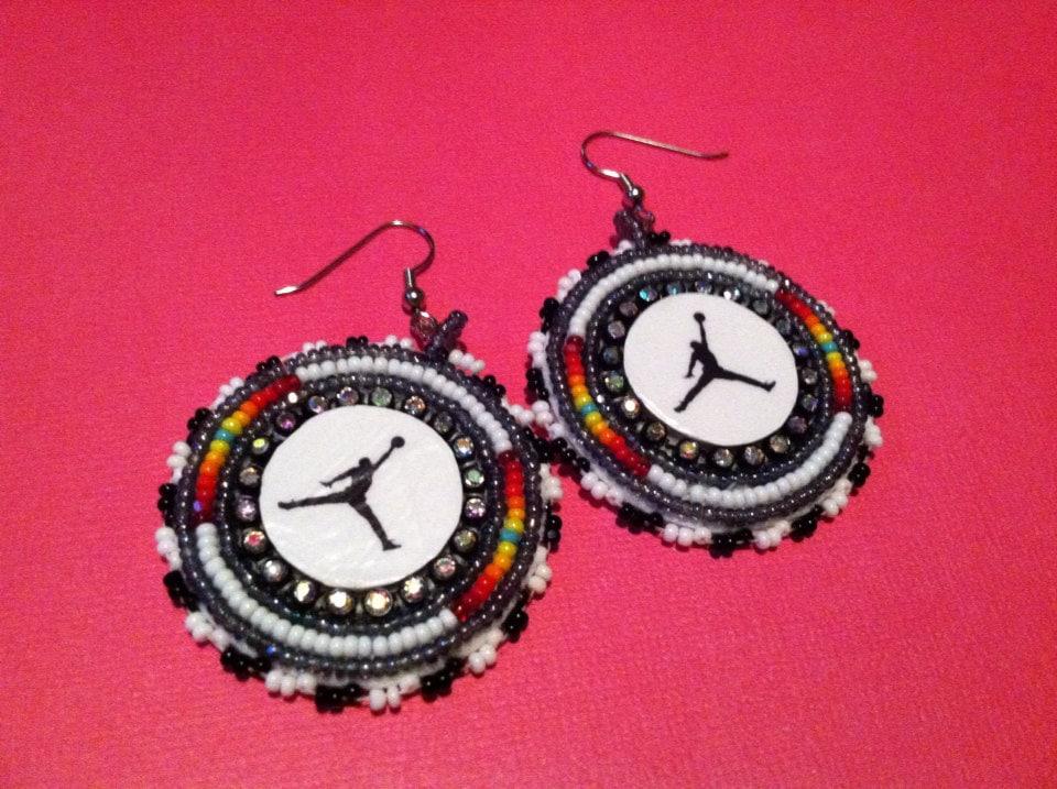 jumpman earrings beautify themselves with earrings