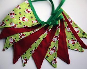 Santa -  Holiday Christmas Bunting Pennant Flags