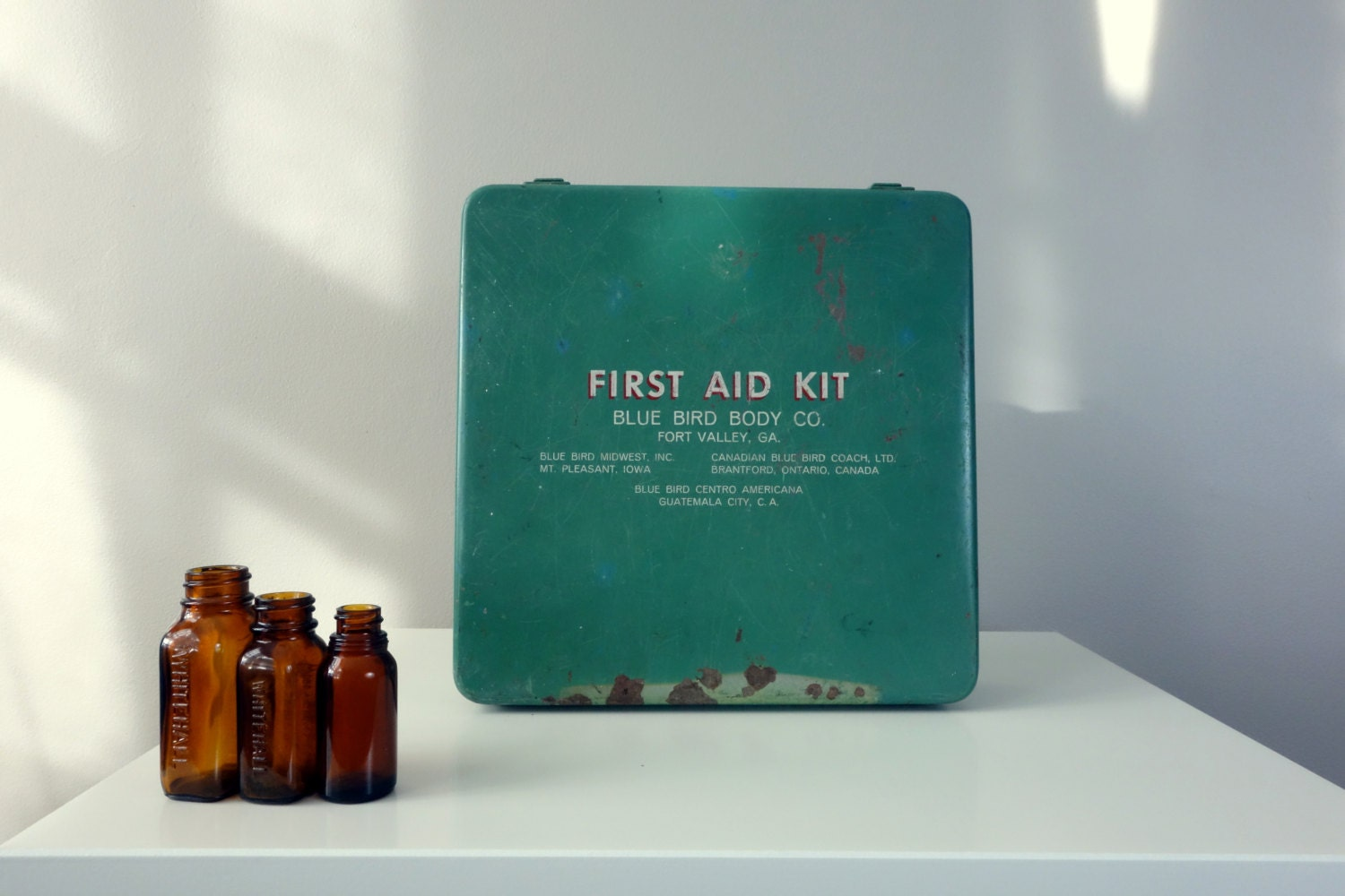 Vintage First Aid Kit Blue Bird Body Company Complete With