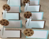 Milk and Cookies place cards