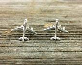 Sterling Silver Jet-airplane Earrings