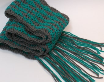 Crochet Scarf wave pattern made to order