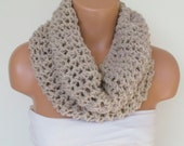 Handmade Stone Knitted Cowl Scarf Circle Scarf Loop Scarf Tube Scarf İnfinty Scarf Winter Fashion Neck Warmer Chunky Scarf.
