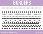 Borders Clip Art - Digital Clipart for Personal & Commercial Use