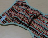 SALE One Size Cloth Diaper Cover - fits 10-40lbs, Summer Stripe