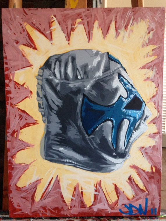 Lucha Libre Painting