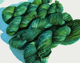 "Handpainted Merino Superwash Sock Yarn- ""Mirkwood"""