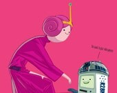 Help me Obi Wan, Adventure Time X Star Wars pinup by DRE