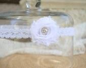 Wedding Garter, Bridal Garter, White Lace Garter, Keepsake Garter, Toss Garter, Shabby Chic, Baby baptism, Christening