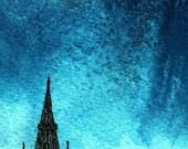 Glasgow University. Print of original watercolour painting.