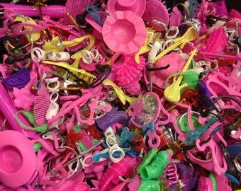 50 PCS- Wholesale LOT-Barbie Accessories-purses, earrings, hats, shoes, wands, glasses, etc.