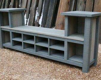 Popular items for bench with cubbies on Etsy