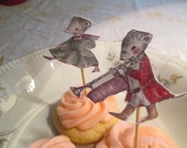 Musical Mice Cup Cake Toppers