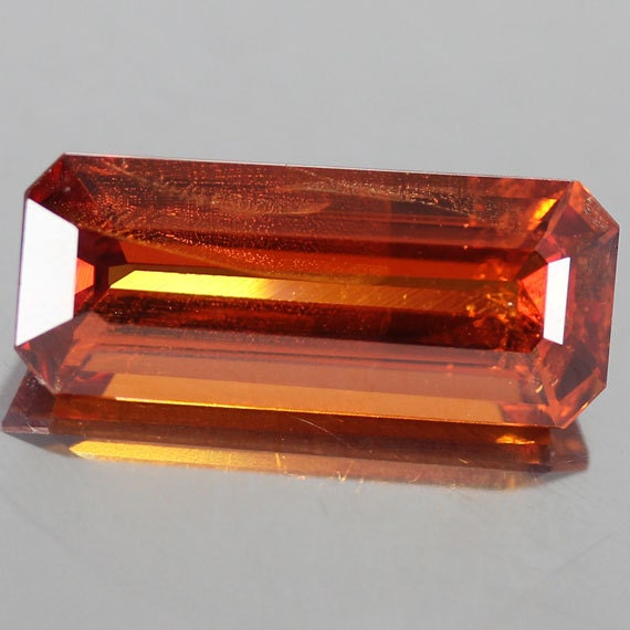 4.55 Ct.100% Natural Unheated Spessartite Garnet Orange Baguette