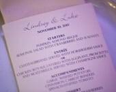 Elegant Script Napkin Wrap Wedding Menus