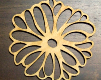 flower  wooden decorative coaster