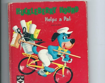 Vintage Top Tales Book Huckleberry Hound Helps A Pal 1960 Authorized Edition Whitman Pub. Neat Story