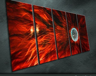 "Modern Original Metal Wall Art Abstract Painting Sculpture Indoor Outdoor Decor ""Planetary Series"" by Ning"