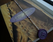 Purple Pink White Beaded Bookmark With Purple Buttons - All Proceeds Support My Tiny Dancer