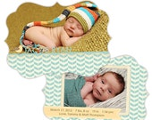 Birth Announcement Template for Photographers Photo Card Template Photography Birth Announcement Photoshop Card Template  - BA120