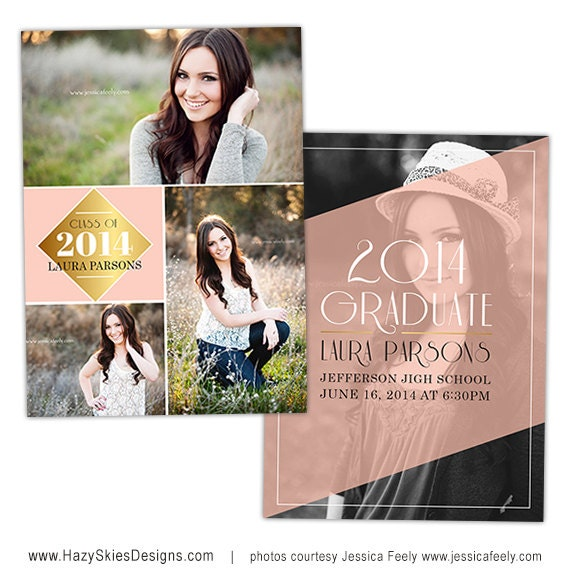 items similar to senior graduation announcement card template for photographers photoshop. Black Bedroom Furniture Sets. Home Design Ideas