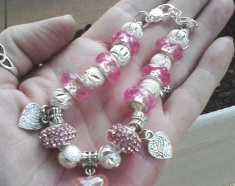 My Heart shines for you, Euro style bracelet