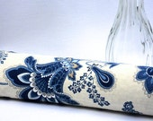 Draft Blocker - Window Door Draft Stopper - Draught Stopper - Energy Saver - Breeze Blocker - Blue Jacobean Decor - Housewarming Gift - MTO