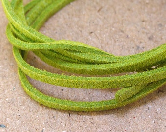 "10 yard 390"" Fauxwood Suede Olive Leather Cord  Quality  Jewelry Line 3mm Necklace Cord Bracelet Cord Jewelry Cord  handwork jewelry Line"