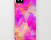 BOLD QUOTATION, Revisited Girly Pink iPhone 4 4s 5 5 5C 6 6s Case Samsung Galaxy Case Raspberry Chevron Abstract Art Watercolor Ikat Pattern