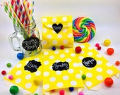 12 Chalk Board Labels For Treat Bags, Mason Jars, Party Favors, Wedding Favors