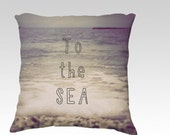 To the Sea Photo Pillow Cover - Ohope Beach, New Zealand - 18x18 and 22x22
