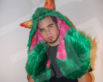 Animal Hood - Green Monster Skoodie
