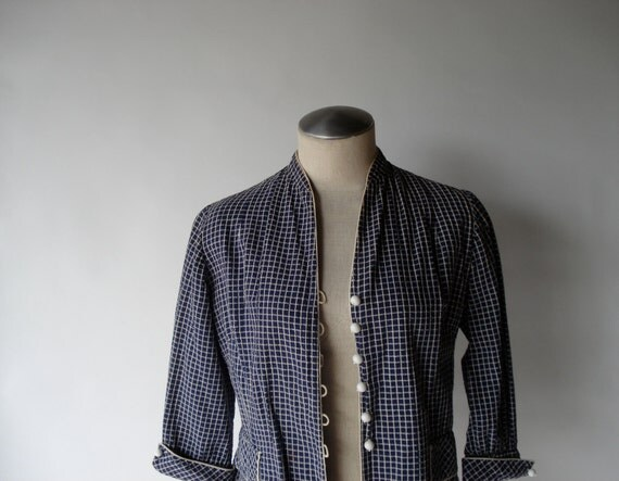 vintage handmade 50s bobble-button cropped jacket (Small)