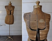Vintage Antique Adjustable Dress Form Collectible Display Rustic size XS - S