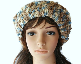 Wide Brown Headband, Chunky Headband, Womens Ear warmers, Textured Headband, Crochet Ski Hairband, Ski Headband, Snow Bunny Headband
