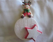 Personalized Christmas Ornament, Polymer Clay Ornament, Personalized Ornament, Christmas Ornament, Handmade Ornament, Clay Art Ornament