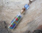 Lake Erie Shores, Beach in a Bottle Necklace