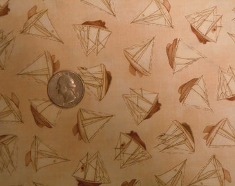 South Sea Imports fabric Tall Ships by D.C. Brown Sailboats