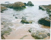 8 x 10 matted photo, tide pools, Pacific Ocean, Crystal Cove, beach photography