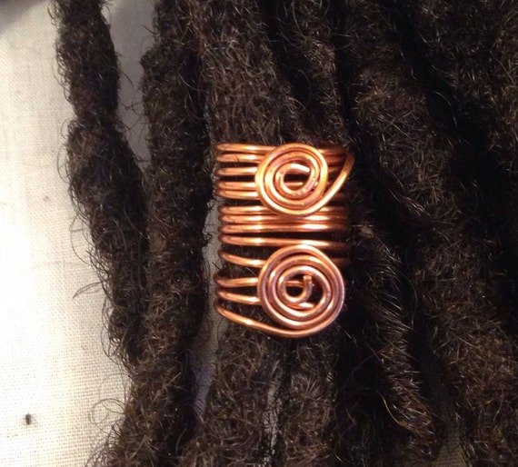 Copper  Dreadlock Bead Accessories Natural Hair Gift